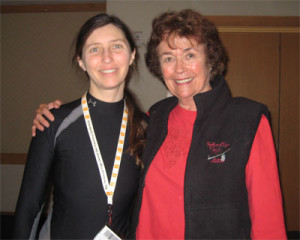 Lilias (my hero) and me at the yoga conference in SF a couple of years ago
