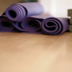 Studio atmosphere - rolled up mats