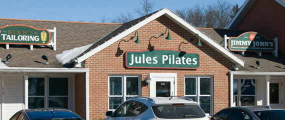 Exterior of Jules Pilates, Westside Madison (not too far from Middleton)