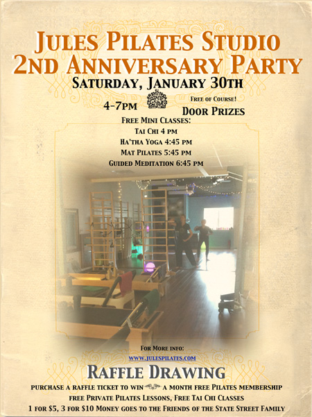 Party poster for 2016 anniversary party links to event page