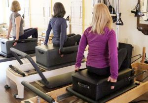 Students on the PIlates reformer
