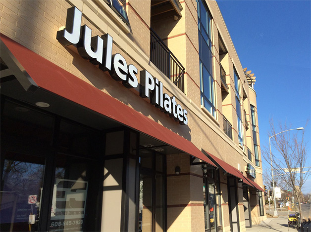 Jules Pilates studio - old sign
