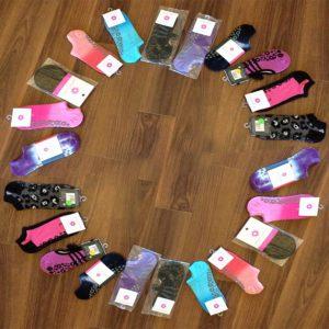 circle of colorful socks